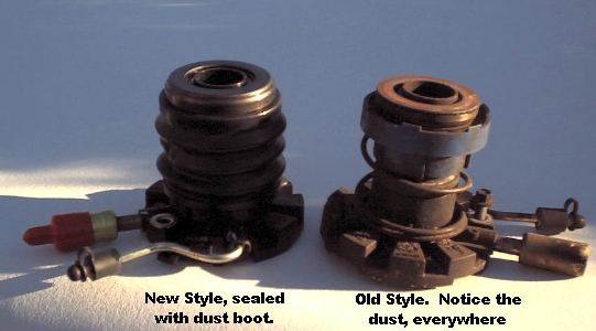Here is a comparison of the new Ford style slave cylinder [left] and the old style [right].  Same price, but the new style is far superior.  Ford used the same slave cyliders for all year/engine Rangers, so getting the right one is easy!